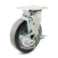 大世脚轮 防静音工业灰胶静音轮 TPE静音推车轮子 耐用弹力轮
