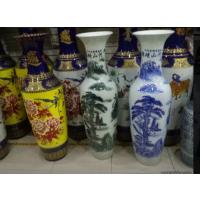 西安陶瓷大花瓶销售 一万块钱一对的花瓶 西安红瓷大花瓶销售