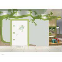 聊城市茌平幼儿园专用门防夹手软包条蓝色实木复合