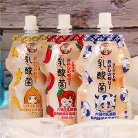 平野乳酸菌吸吸啫喱可吸果冻香蕉草莓味布丁饮品80g*6袋 休闲饮料