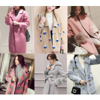 呢子大衣清货韩版时尚中长款呢子外套批发双面尼大衣低价清仓