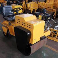 驾驶型柴油振动压路机 小型坐驾式震动压路机 双钢轮沟槽回填震动压实机