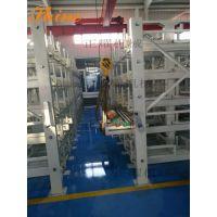天津管道公司仓库图片 管道用的货架 重型可调架 伸缩架