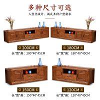 实木橡木电视柜组合简约可伸缩客厅卧室地柜矮柜中式家具厂家批售