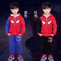 蜘蛛侠套装儿童两件套童装2017秋冬新款卫衣加绒加厚童套装