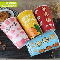 湖北省厂家直销一次性盒冷锅串串桶钵钵鸡大号双淋膜撸串纸桶打包可带盖可定制批