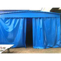 张家口万全区供应移动仓库蓬布固定仓库篷户外推拉雨棚