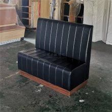 中式酒店沙发定做,海口酒店皮革软包卡座沙发哪里买