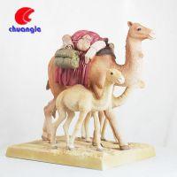创意树脂骆驼时钟 外贸出口沙漠旅游纪念品 欧式客厅摆件