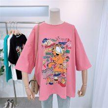 厂家清货大量便宜服装夏季纯棉女士T恤批发库存服装批发棉
