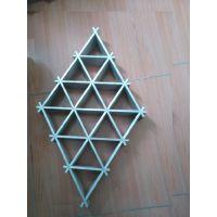 金属三角形铝格栅