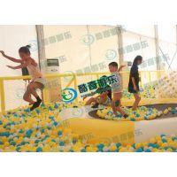 淘气堡百万海洋球设备充气蹦床大型滑梯