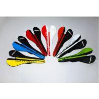 san碳纤维自行车座垫鞍座,尺寸123x275,颜色黄色、白色、黑色、红色、橙色,可加工定制