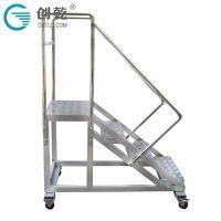 广东创乾CQFG-0.5M定制0.5米移动货梯平台货架梯铝合金滑轮仓库稳固工程梯移动登高梯
