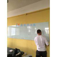 惠州挂式玻璃白板L湛江超白钢化玻璃白板C防爆教学留言板