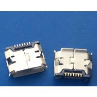 贴片MICRO 7P母座7针+7PIN USB迈克插板两脚dip+SMT有卷边B型