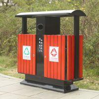 沧州绿美公园环保钢木分类垃圾箱依然是投资亮点