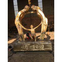 铸铜人物雕塑河北铜雕厂直供公园小区人物摆件创意铜雕定做