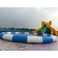 充气水池游泳池水上乐园设备大型户外儿童充气游泳池百万海洋球池