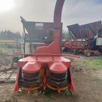 云南牧场牛羊饲料鲜秸秆粉碎回收机 秸秆青储机 拖拉机带动式牧草回收一体机