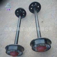 厂家直销实心轮对 铸钢空心矿车轮子 可定做煤矿专用矿车轮对