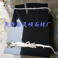 灵硕石材供应650*900*60现货山西黑墓碑 黑色花岗岩