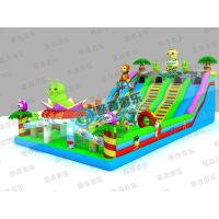 陆地充气游乐设备pvc玩具充气滑梯