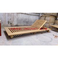 卓意林ZYL-SMTY010 定制金丝柚木可调节躺椅、户外实木躺椅价格