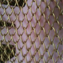 车站装饰网 不锈钢垂帘网 黄色铁丝窗帘