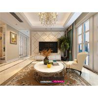 【山水装饰】绿地中心四室两厅休闲优雅简欧风格案例