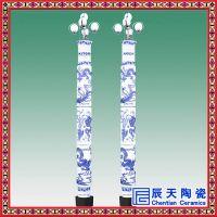 定做陶瓷灯柱厂家 景观室外陶瓷灯柱