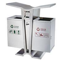 定制不锈钢果皮箱 环卫分类垃圾桶小区物业分类果皮箱
