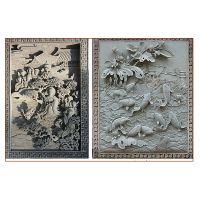 汕头中式砖雕青砖砌块门头工程