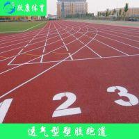 湖北四川浙江塑胶跑道透气型混合型复合型全塑型运动场跑道学校运动场