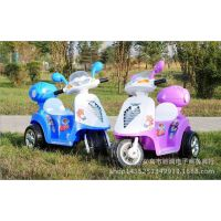 供应儿童新款小木兰电动男女宝宝三轮摩托车童车玩具车