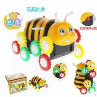 电动小蜜蜂翻斗车 卡通自动翻转特技车新奇特翻滚玩具车儿童礼物