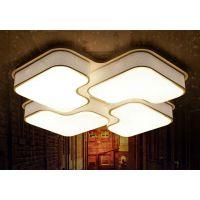 现代简约LED铝材质吸顶灯方案控制板客厅灯具房间折叠形灯饰模块