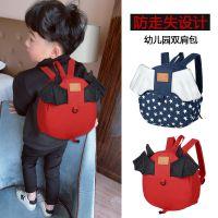 新款韩版帆布小翅膀儿童幼儿园1-3-5岁防走失双肩背小书包男女