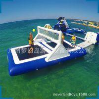 ***新水上游乐设备 充气水上排球场 移动水上乐园充气水上玩具
