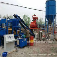 全自动8-15水泥空心砖机价格 城市透水砖设备 全自动空心渗水砖机