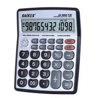 宝克EC6802语音计算器 /12位数金属面板 带时间日历闹钟真人发音