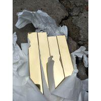 304/6米/3米无指纹拉丝黄钛金不锈钢矩形管50*15