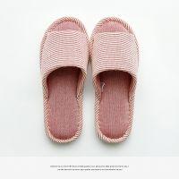 棉布拖鞋女 四季韩版情侣室内木地板静音无声防滑棉麻拖鞋男 TPR鞋底