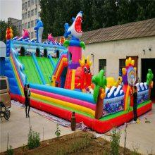 充气跳跳床儿童充气城堡游乐设备广场景区小猪佩奇充气攀岩大滑梯