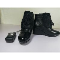 新一代利康频谱电热鞋LS9803电子发热鞋远红外纳米发热体头层牛皮皮鞋
