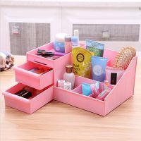塑料防水抽屉式化妆品收纳盒创意环保桌面首饰整理箱收纳盒储物箱