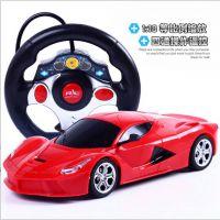 单个包邮新款热卖方向盘四通儿童玩具遥控车充电跑车模型厂家批发