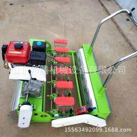 四轮车带动大型茴香菠菜芝麻精播机 汽油电动手推蔬菜播种机