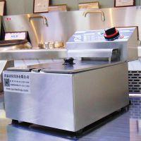商用台式单缸单筛不锈钢自动恒温电炸锅6L小油炸炉