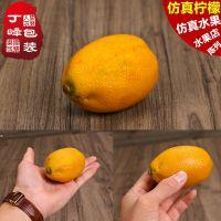 仿真水果 逼真假柠檬 1:1加重水果道具模型陈列展示柜丁峰包装